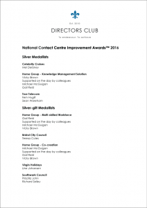 Medal_Winners_National_Contact_Centre_Improvement_Awards_2016